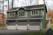 Traditional Style House Plan - 1 Beds 1 Baths 949 Sq/Ft Plan #22-402 Exterior - Front Elevation