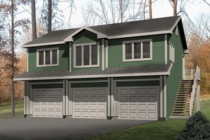 Traditional Exterior - Front Elevation Plan #22-402