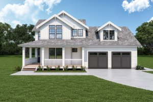 House Plan Design - Craftsman Exterior - Front Elevation Plan #1070-126