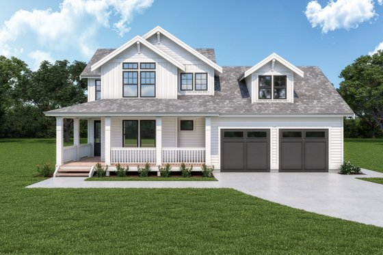Craftsman Exterior - Front Elevation Plan #1070-126