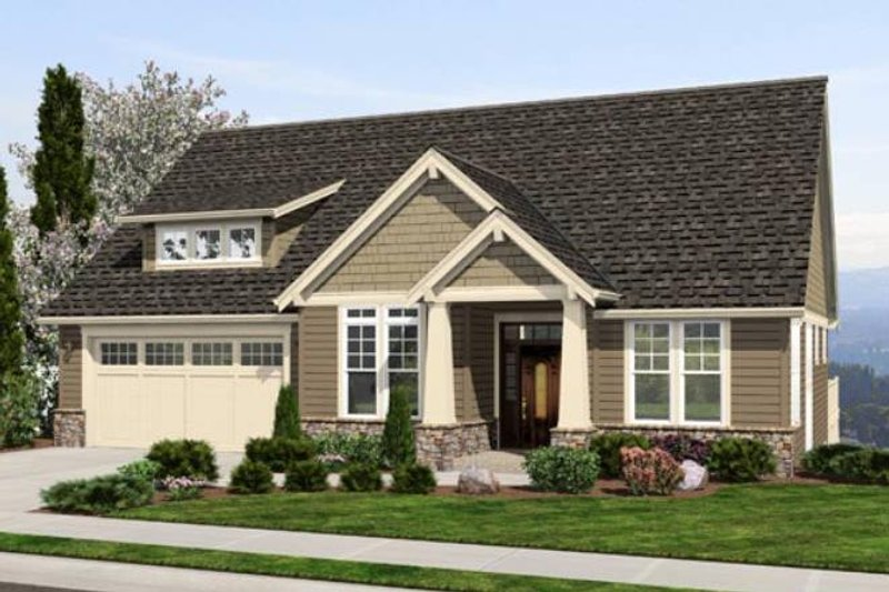 Craftsman Exterior - Front Elevation Plan #48-461