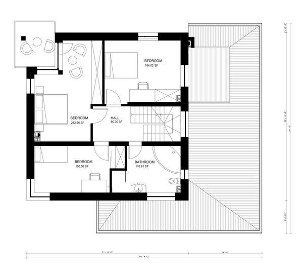Contemporary Floor Plan - Upper Floor Plan Plan #906-18