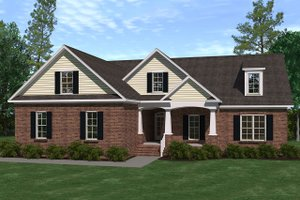 Home Plan - Traditional Exterior - Front Elevation Plan #1071-15