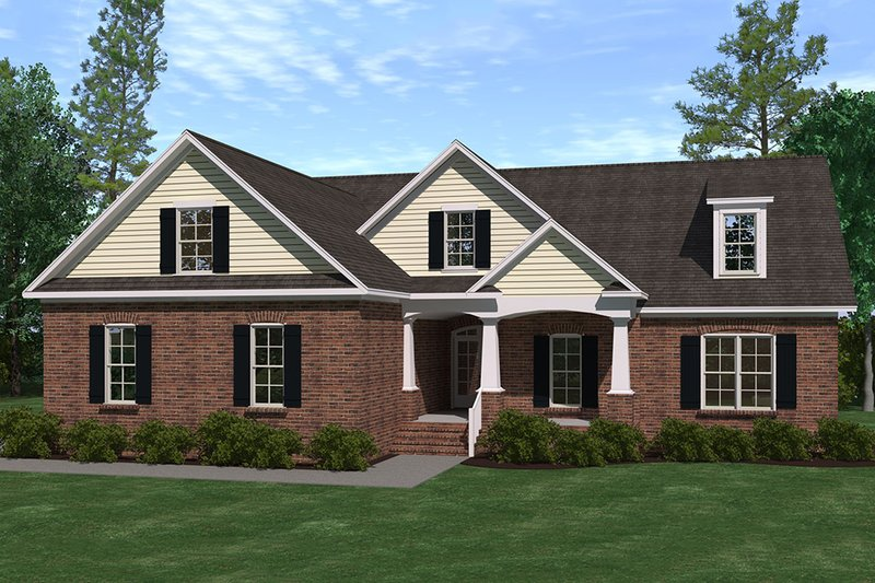 Traditional Exterior - Front Elevation Plan #1071-15