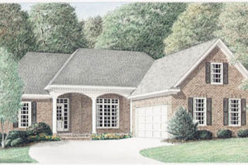 Traditional Exterior - Front Elevation Plan #34-134 - Houseplans.com