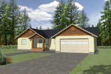 House Plan Design - Ranch Exterior - Front Elevation Plan #117-363