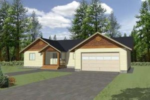 Ranch Exterior - Front Elevation Plan #117-363