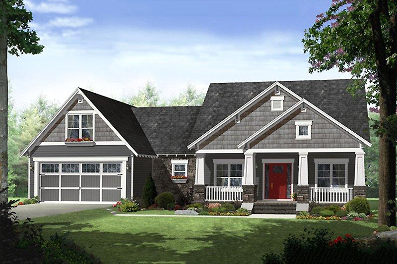 House Plan Design - Craftsman Exterior - Front Elevation Plan #21-341