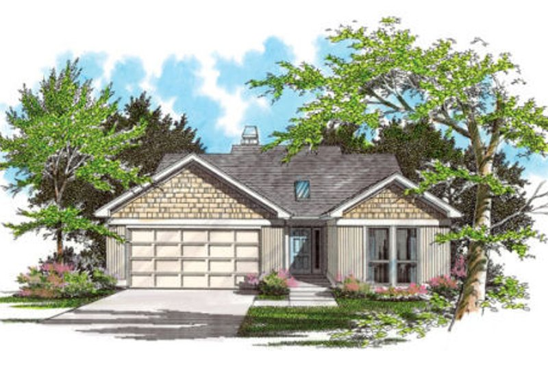 Traditional Exterior - Front Elevation Plan #48-270