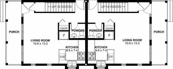 Dream House Plan - Craftsman Floor Plan - Main Floor Plan #126-200