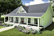 Traditional Style House Plan - 3 Beds 2 Baths 1611 Sq/Ft Plan #44-236 Exterior - Front Elevation