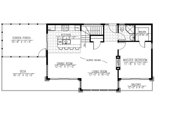 1500 square foot modern 3 bedroom 2 bath house plan