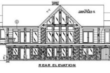 Log Exterior - Rear Elevation Plan #117-105