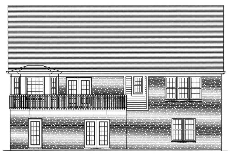 Traditional Exterior - Rear Elevation Plan #46-372 - Houseplans.com