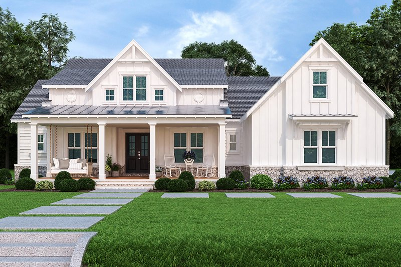 Architectural House Design - Farmhouse Exterior - Front Elevation Plan #119-434