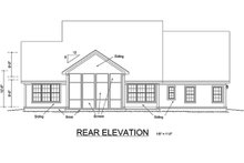 Dream House Plan - Farmhouse Exterior - Rear Elevation Plan #513-2046