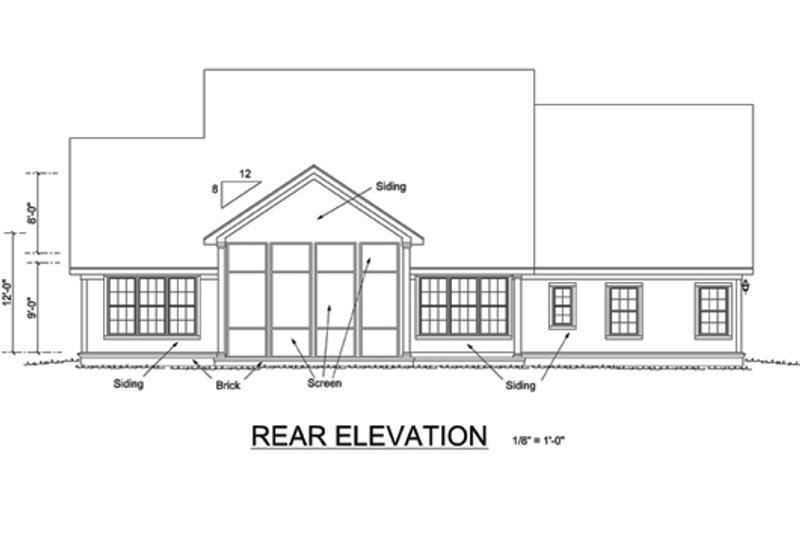 Farmhouse Exterior - Rear Elevation Plan #513-2046 - Houseplans.com