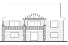 Dream House Plan - Craftsman Exterior - Rear Elevation Plan #124-1020