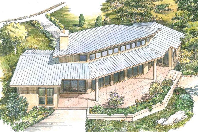House Plan Design - Contemporary Exterior - Rear Elevation Plan #140-157