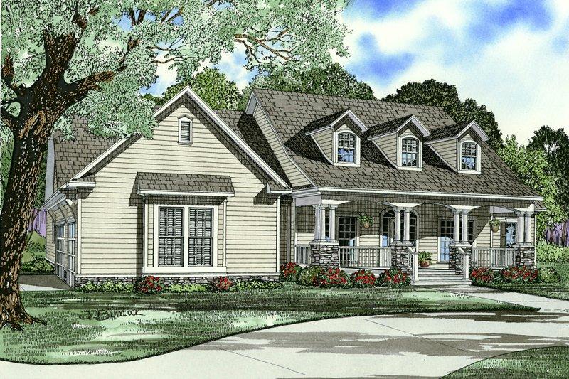 Southern Style House Plan - 4 Beds 3 Baths 2430 Sq/Ft Plan #17-2587