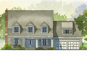 Cape Cod style home, elevation