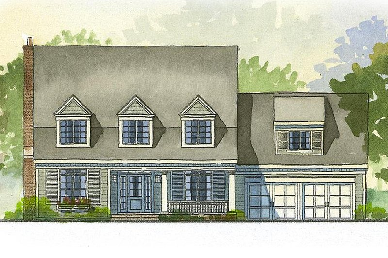 Farmhouse Style House Plan - 3 Beds 2.5 Baths 2862 Sq/Ft Plan #901-5 Exterior - Front Elevation