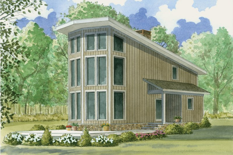 Dream House Plan - Contemporary Exterior - Front Elevation Plan #923-5