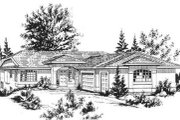 European Style House Plan - 4 Beds 3 Baths 1728 Sq/Ft Plan #18-9303 Exterior - Front Elevation
