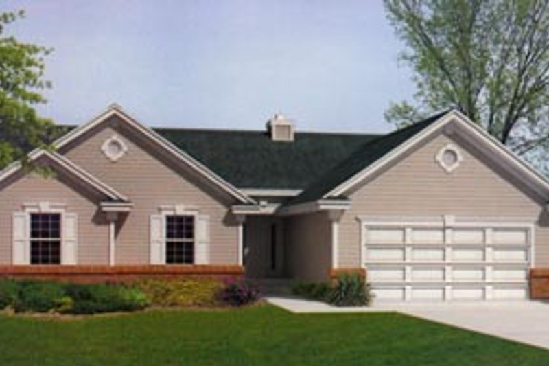 Traditional Exterior - Front Elevation Plan #93-101