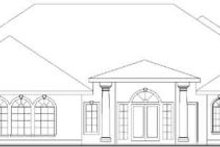 Home Plan - Traditional Exterior - Rear Elevation Plan #117-165