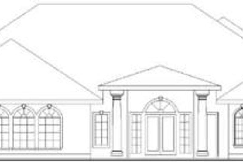 Traditional Exterior - Rear Elevation Plan #117-165 - Houseplans.com