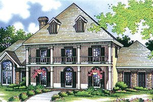 Southern Exterior - Front Elevation Plan #45-280