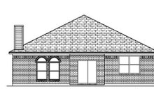Dream House Plan - Traditional Exterior - Rear Elevation Plan #84-354