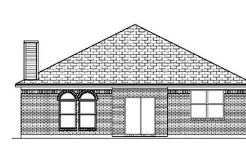 Traditional Exterior - Rear Elevation Plan #84-354 - Houseplans.com