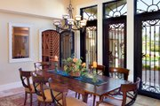 Mediterranean Style House Plan - 4 Beds 4.5 Baths 4730 Sq/Ft Plan #548-2 Interior - Dining Room