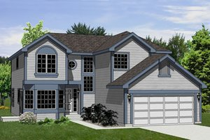 Traditional Exterior - Front Elevation Plan #116-225