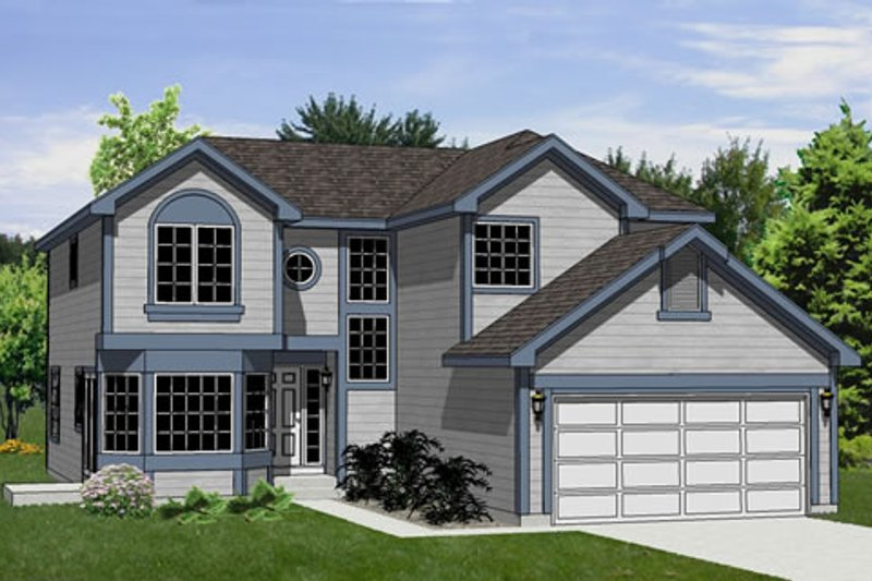 Traditional Style House Plan - 3 Beds 3 Baths 1961 Sq/Ft Plan #116-225 Exterior - Front Elevation