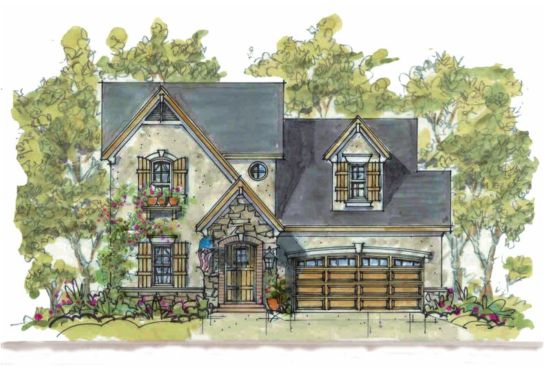 Home Plan - Country Exterior - Front Elevation Plan #20-2235