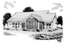 Home Plan - Country Exterior - Rear Elevation Plan #20-160