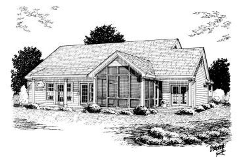 Country Exterior - Rear Elevation Plan #20-160 - Houseplans.com