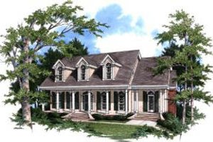 Southern Exterior - Front Elevation Plan #37-207