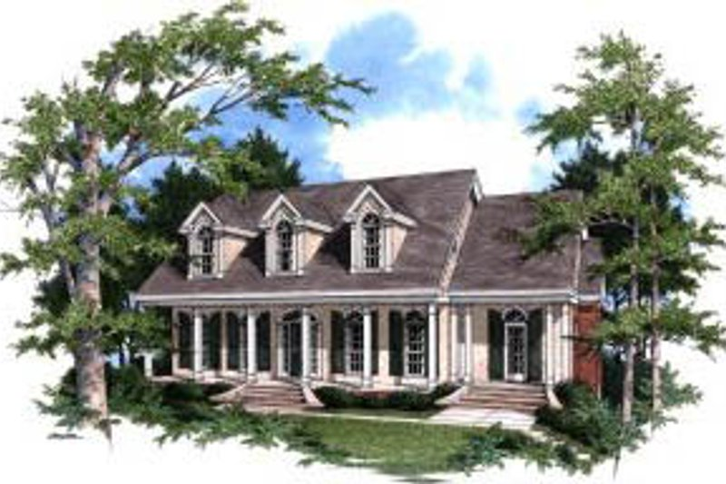 Southern Exterior - Front Elevation Plan #37-207 - Houseplans.com
