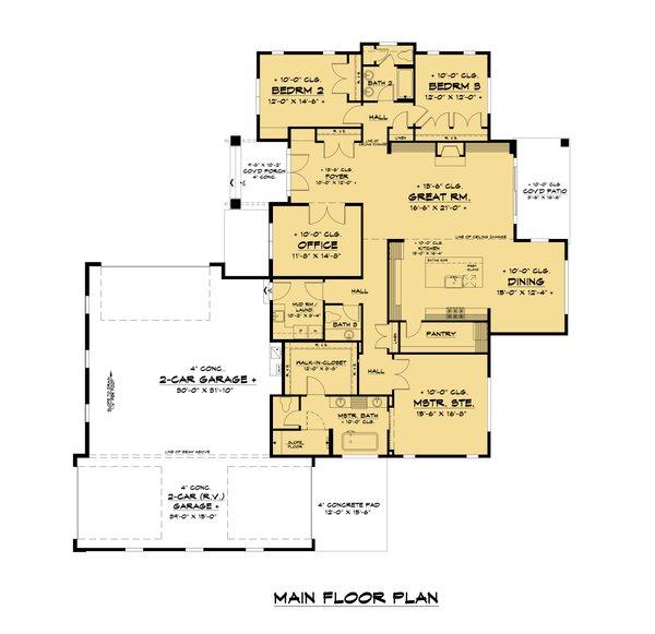 Traditional Floor Plan - Main Floor Plan Plan #1066-107