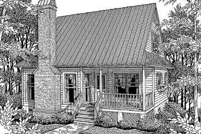 Country Style House Plan - 3 Beds 1 Baths 1028 Sq/Ft Plan #41-104