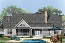 Home Plan - Country Exterior - Rear Elevation Plan #929-46