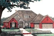 European Style House Plan - 3 Beds 2.5 Baths 2260 Sq/Ft Plan #310-824 Exterior - Front Elevation