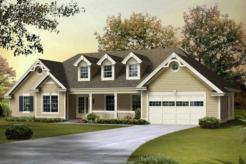 Traditional Exterior - Front Elevation Plan #57-584 - Houseplans.com