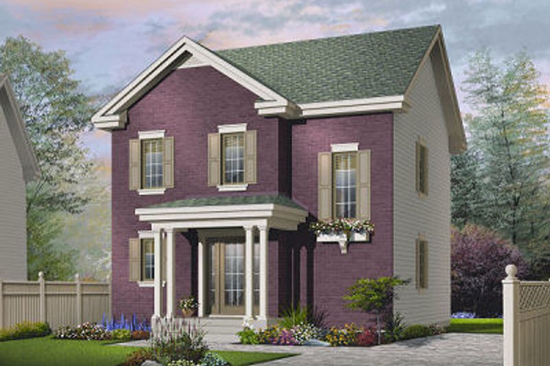 Architectural House Design - Traditional Exterior - Front Elevation Plan #23-739