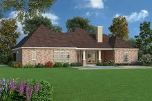 Dream House Plan - Tudor Exterior - Rear Elevation Plan #45-373