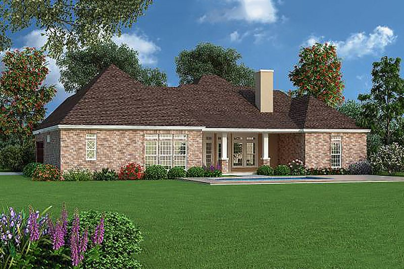 Tudor Exterior - Rear Elevation Plan #45-373 - Houseplans.com